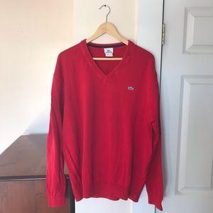 Men's Lacoste V-Neck Sweater l XL